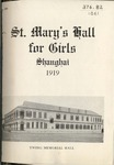 St. Mary's Hall for Girls, Shanghai, 1919