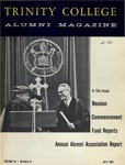 Trinity College Alumni Magazine, July 1962