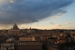 Roman Skyline After a Storm Looking Out at the Vatican City  (Rome, Italy)