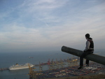 Fort at the Top of Montjuic in Barcelona, Looking Over the Port and the Mediterranean. (Barcelona, Spain)