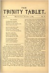 Trinity Tablet, November 1869 by Trinity College