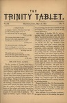 Trinity Tablet, May 1870