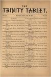 Trinity Tablet, June 1871
