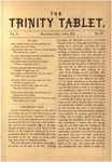 Trinity Tablet, April 1872