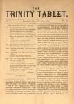 Trinity Tablet, November 1872