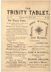 Trinity Tablet, March 1873