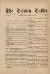 Trinity Tablet, February 1874
