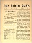 Trinity Tablet, October 7, 1876