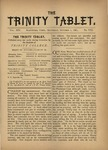 Trinity Tablet, October 1, 1881