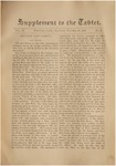 Supplement to the Trinity Tablet, October 26, 1878