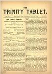 Trinity Tablet, October 27, 1883