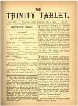 Trinity Tablet, December 1, 1883