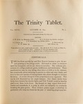 Trinity Tablet, October 28, 1893