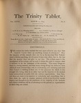 Trinity Tablet, March 17, 1894
