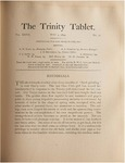 Trinity Tablet, May 9, 1894