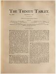 Trinity Tablet, December 3, 1892