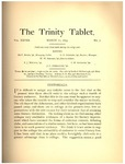 Trinity Tablet, March 12, 1895
