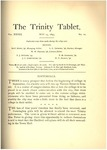 Trinity Tablet, May 25, 1895