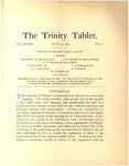 Trinity Tablet, June 25, 1895