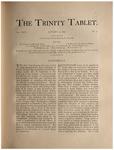 Trinity Tablet, January 17, 1891