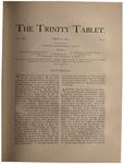 Trinity Tablet, March 21, 1891