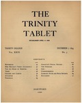 Trinity Tablet, December 7, 1895