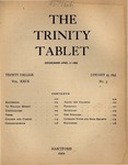 Trinity Tablet, January 25, 1896