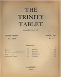 Trinity Tablet, March 7, 1896