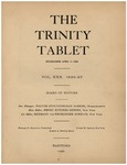 Trinity Tablet, 1896 Index