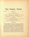 Trinity Tablet, October 15, 1896