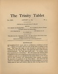 Trinity Tablet, January 29, 1897