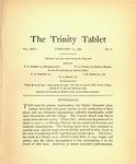 Trinity Tablet, February 20, 1897
