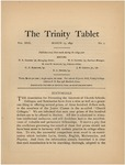 Trinity Tablet, March 13, 1896