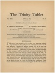 Trinity Tablet, April 3, 1897