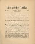 Trinity Tablet, November 12, 1897