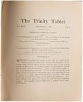 Trinity Tablet, December 2, 1897