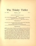 Trinity Tablet, March 10, 1898