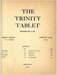 Trinity Tablet, February 18, 1899
