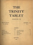 Trinity Tablet, November 4, 1899