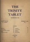 Trinity Tablet, November 29, 1899