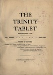 Trinity Tablet, 1899-1900 Index