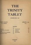 Trinity Tablet, January 27, 1900