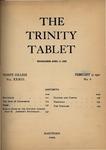 Trinity Tablet, February 17, 1900