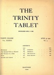 Trinity Tablet, April 30, 1900