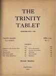 Trinity Tablet, June 9, 1900