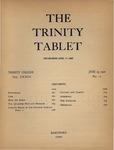 Trinity Tablet, June 25, 1900