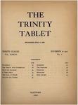 Trinity Tablet, November 10, 1900