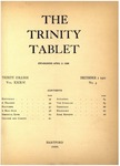 Trinity Tablet, December 01, 1900