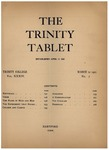Trinity Tablet, March 12, 1901