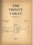 Trinity Tablet, June 11, 1901 by Trinity College
